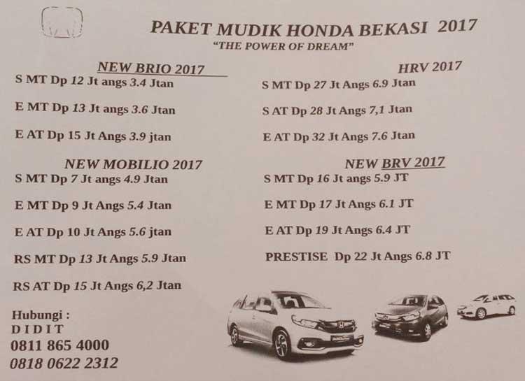 Harga Mobil Honda By Didit